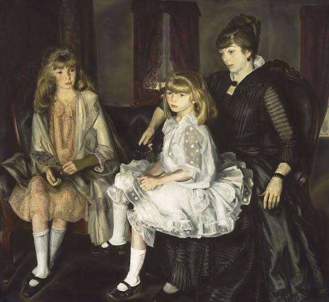 George Wesley Bellows - Эмма со своими детьми