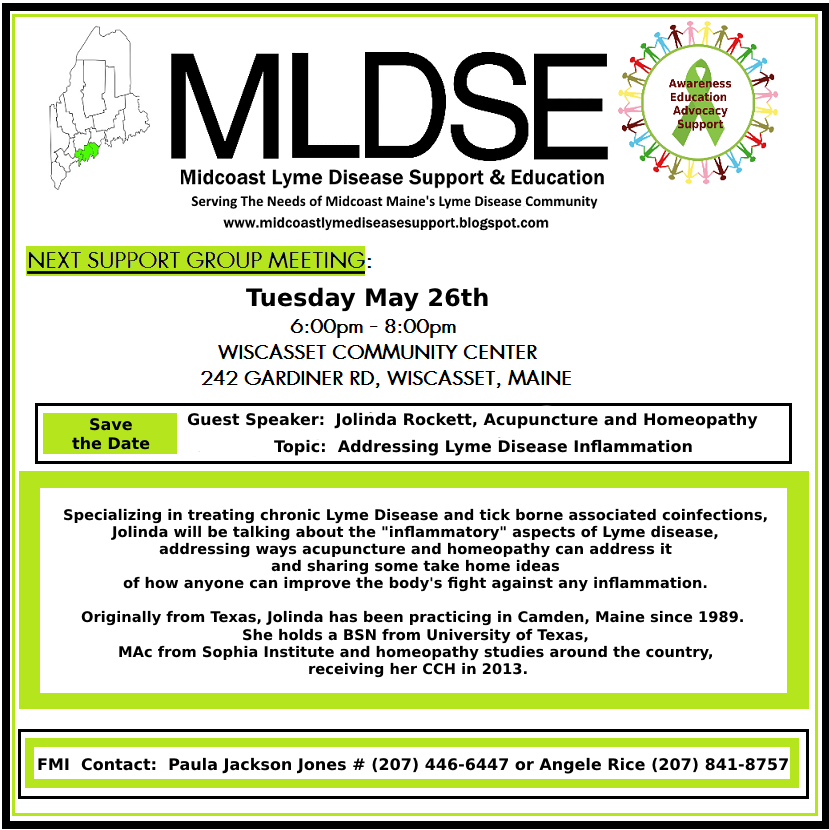 Midcoast Lyme Disease Support and Education: May 2015