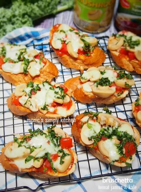 resep bruschetta mushroom tomato kale