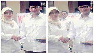 Penjelasan Sandiaga Uno Terkait Foto Bareng Asma Dewi