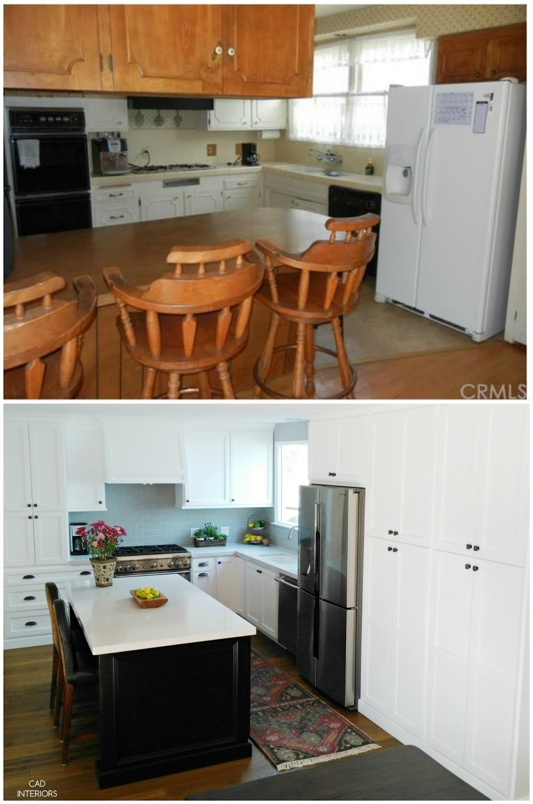 home improvement remodel renovation kitchen interior design modern transitional farmhouse white black kitchen