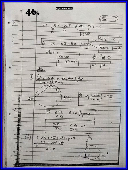 IITJEE Competition Notes On Complex Number 46