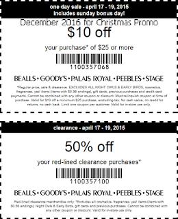 Bealls coupons december 2016