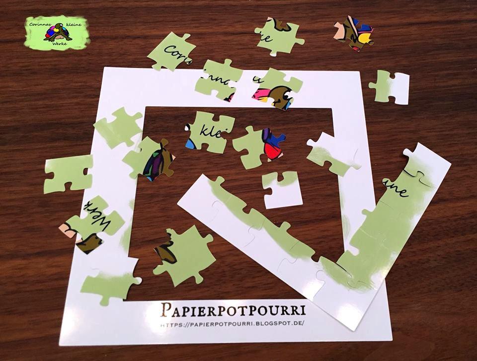 Papierpotpourri: 5 x 5 plus Rahmen