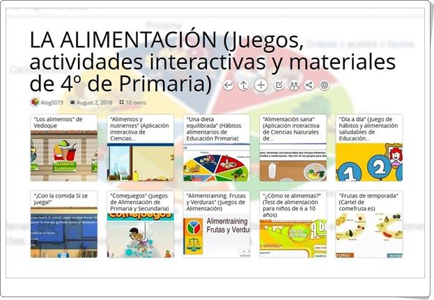 """""""10 Juegos, actividades interactivas y materiales para el estudio de LA ALIMENTACIÓN en 4º de Primaria"""""""