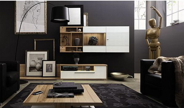 Luxury Bedroom Ideas: great designs of living room with black color
