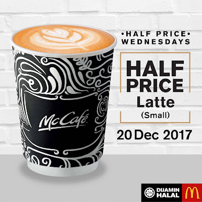 McDonald's McCafe Half Price Wednesday Promo