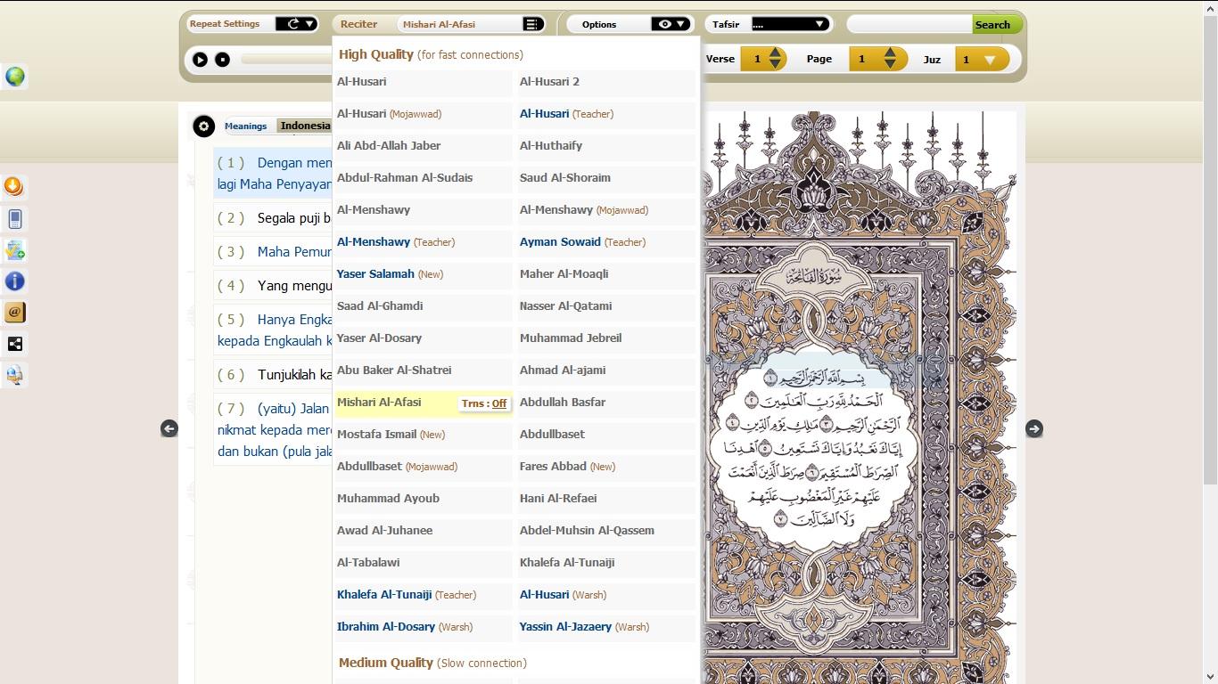 Al-Quran Online dan Download Aplikasi Al-Quran untuk Komputer dan Android
