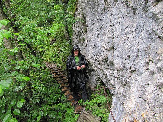 Wejście na Stupačky pod Zelenou Horu.