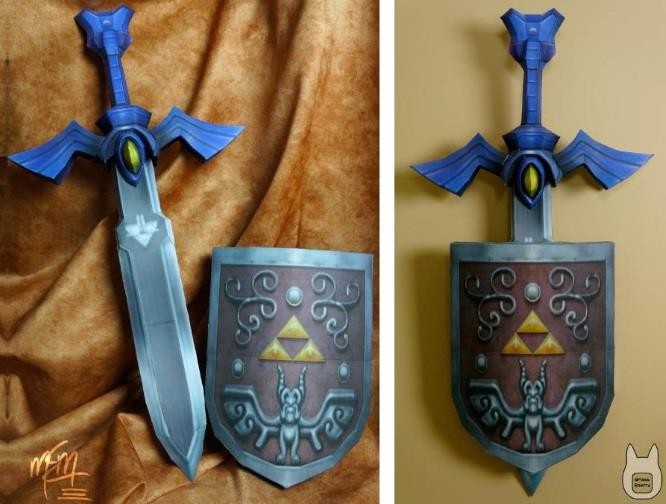 PAPERMAU: Wind Waker Master Sword & Shield Wall Decoration Paper