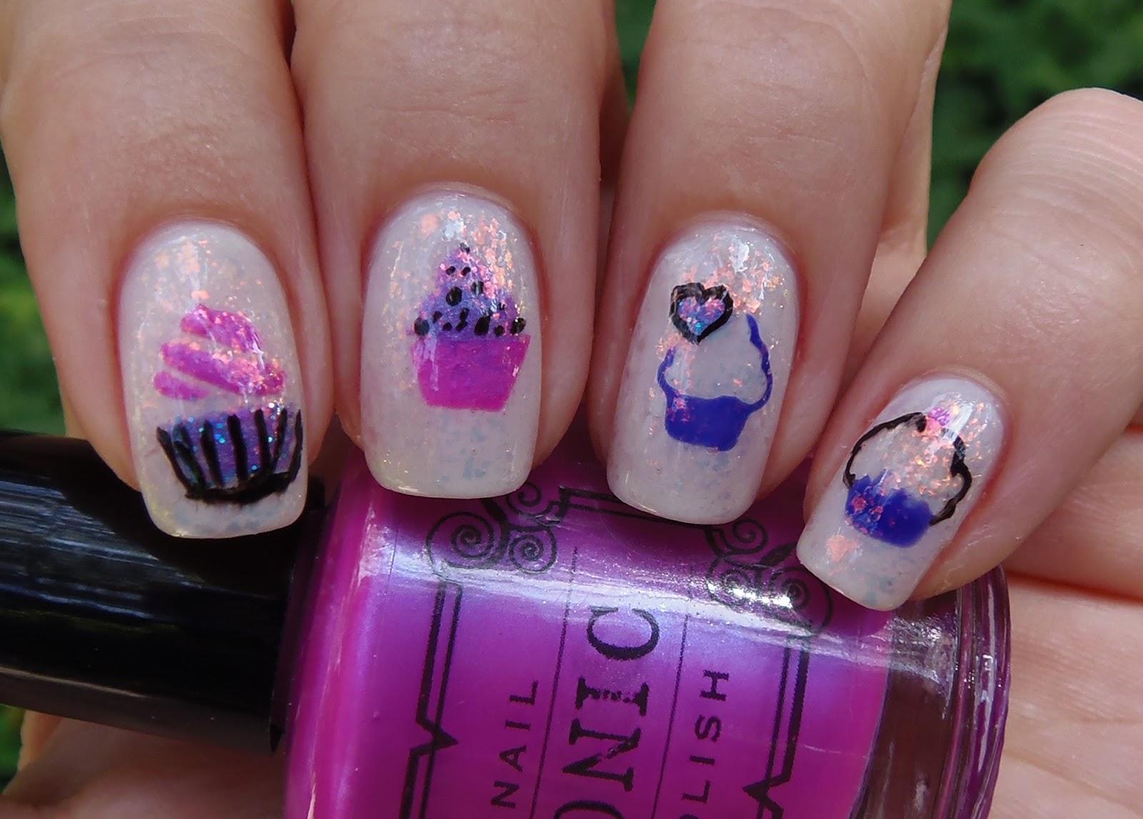 Sparkly Vernis: cupcake nails