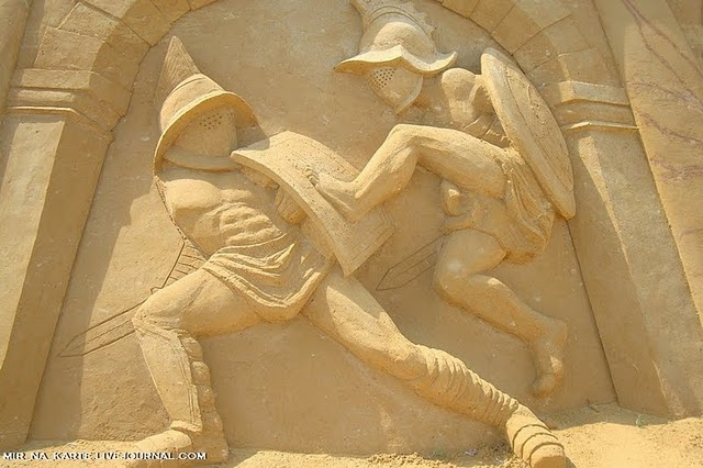 Wallpaper Illusion 3d Cool Roman Empire Sand Sculpture Art Amazing Arts