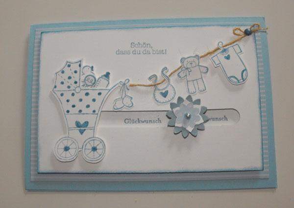 Petra S Bastelideen Baby Karten Workshop