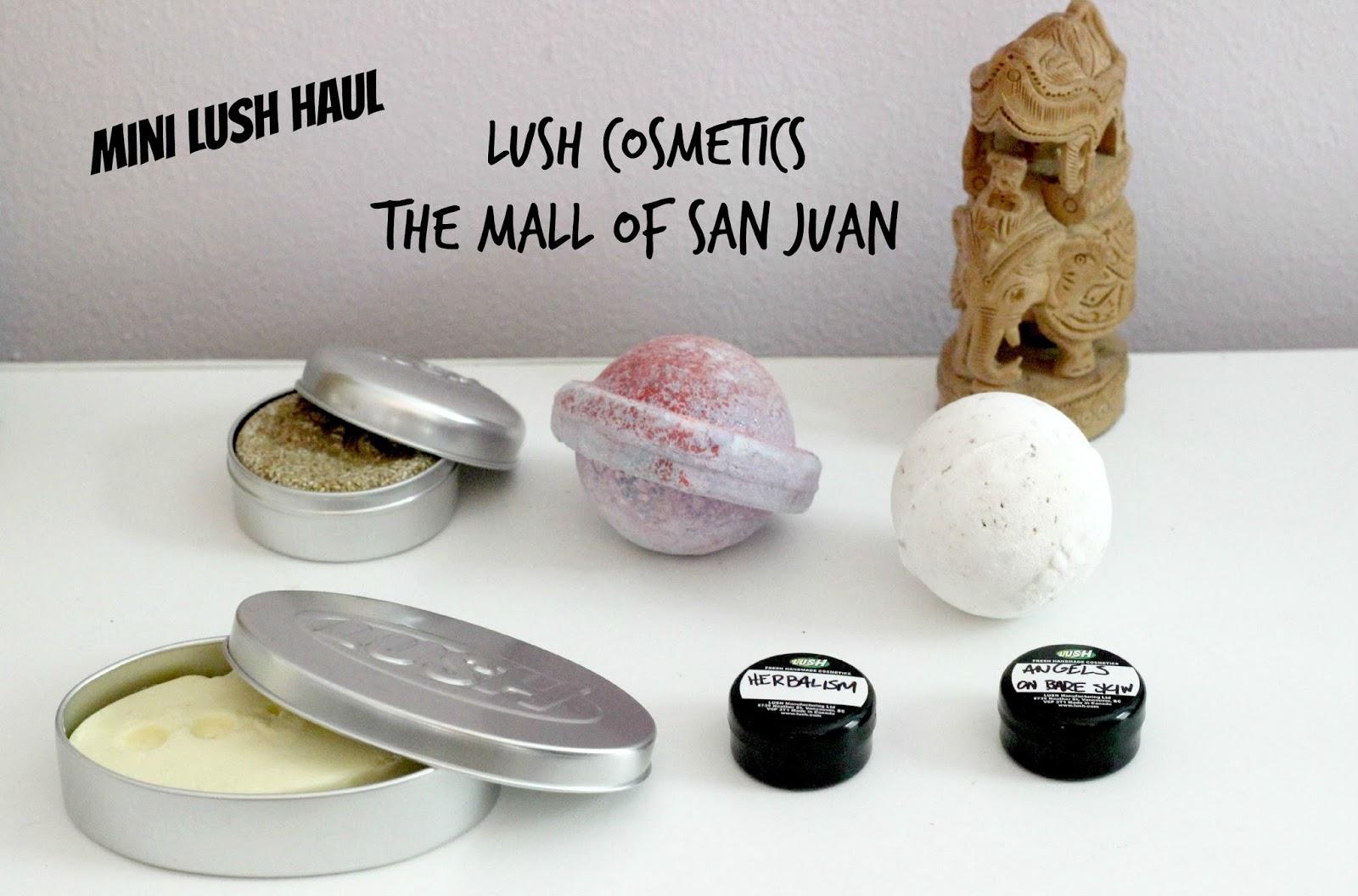 Mini Lush Haul Mall of San Juan - Unique fashion by Taryn