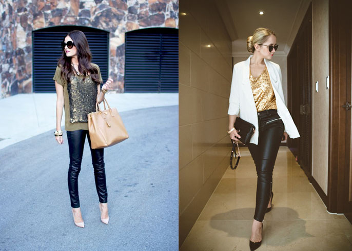 Wear Leather Leggings as Pants