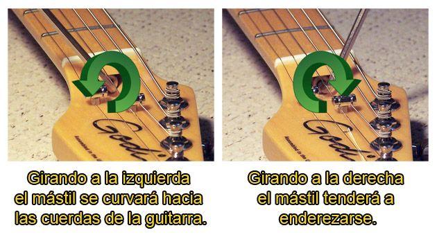 Cómo Ajustar el Tornillo del Alma del Mástil de la Guitarra