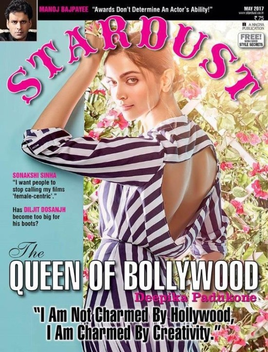 Deepika Padukone on The Cover of Stardust Magazine May 2017
