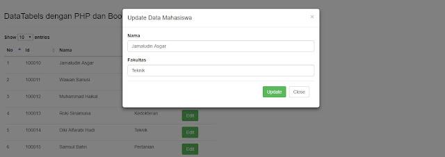 Membuat Edit Data pada Modal dengan Bootstrap dan PHP