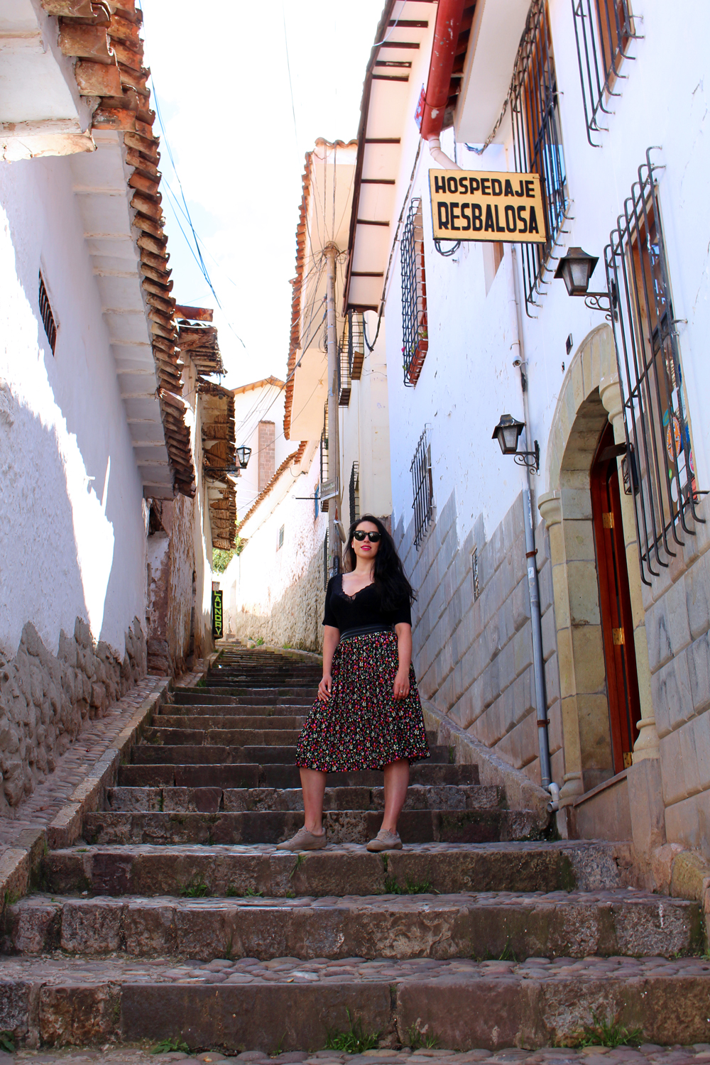 Steep steps in Cusco, Peru - lifestyle & travel blog