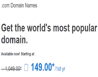 buy .com domain at 149 from godaddy