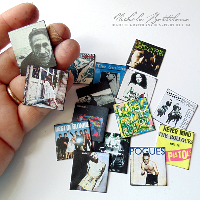 Miniature record collection - Nichola Battilana