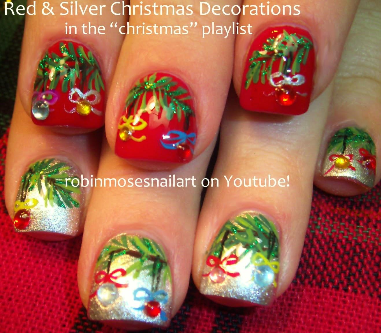 "Christmas Nails Tutorial Youtube: Nail Art By Robin Moses: ""Christmas Nails"" ""Christmas Nail"