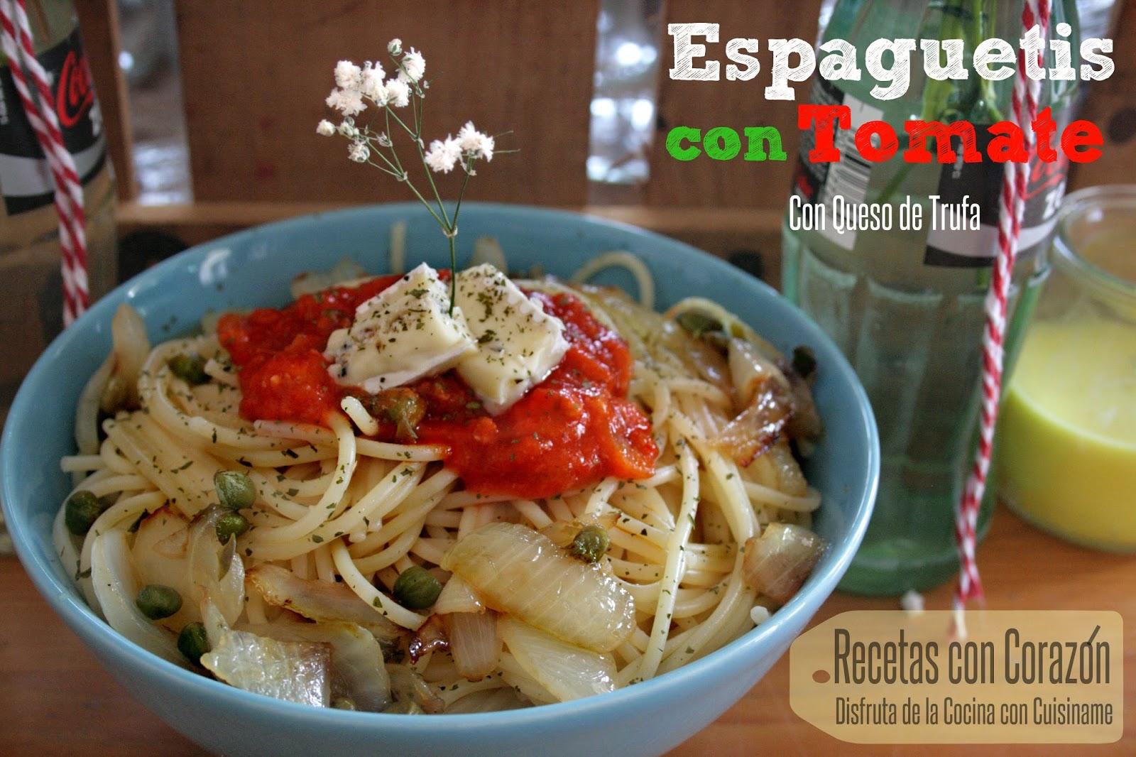espaguetis, receta de espaguetis, espaguetis con tomate, quesos, pasta, recetas fáciles, espaguetis con tomate receta, receta originales, recetas de cocina, cuisiname