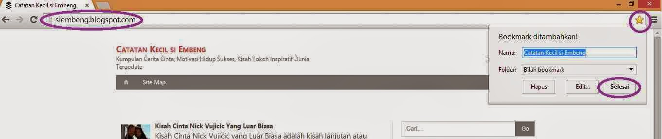 Tampilan Google Chrome