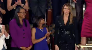 Melania Trump Sparkles In Black Outfit For Joint Address