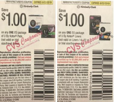 "$1/1 Kotex Liners Coupon from ""Smart Source"" insert 5/19/19."