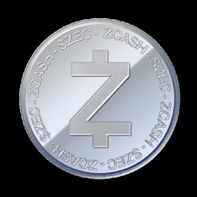 ジーキャッシュ(Zcash)のフリー素材(アルミver)