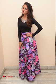 Actress Sana Pictures in Floral Skirt at Neerajanam Audio Launch  0168.JPG
