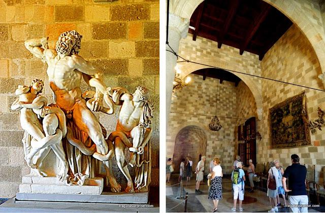 Interior do Palácio do Grão-Mestre da Ordem dos Cavaleiros de Rodes