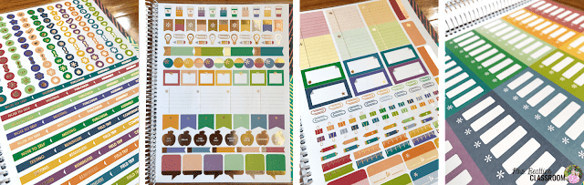 Photo of Erin Condren Teacher Planner included sticker pages