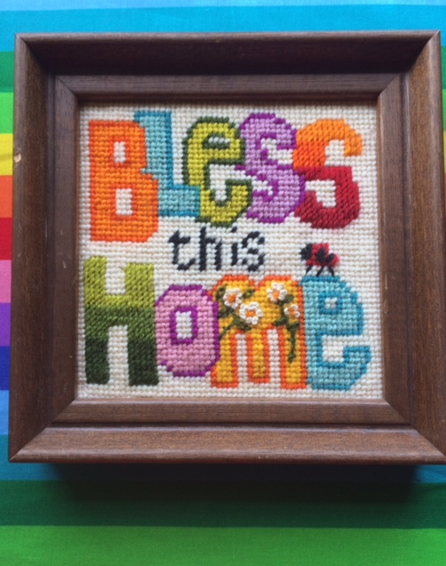 ea6932ded1 I have also found some more needlepoint pieces and pictures that I hadn't  share here on the blog as of yet. This colorful one is a particular  favorite: