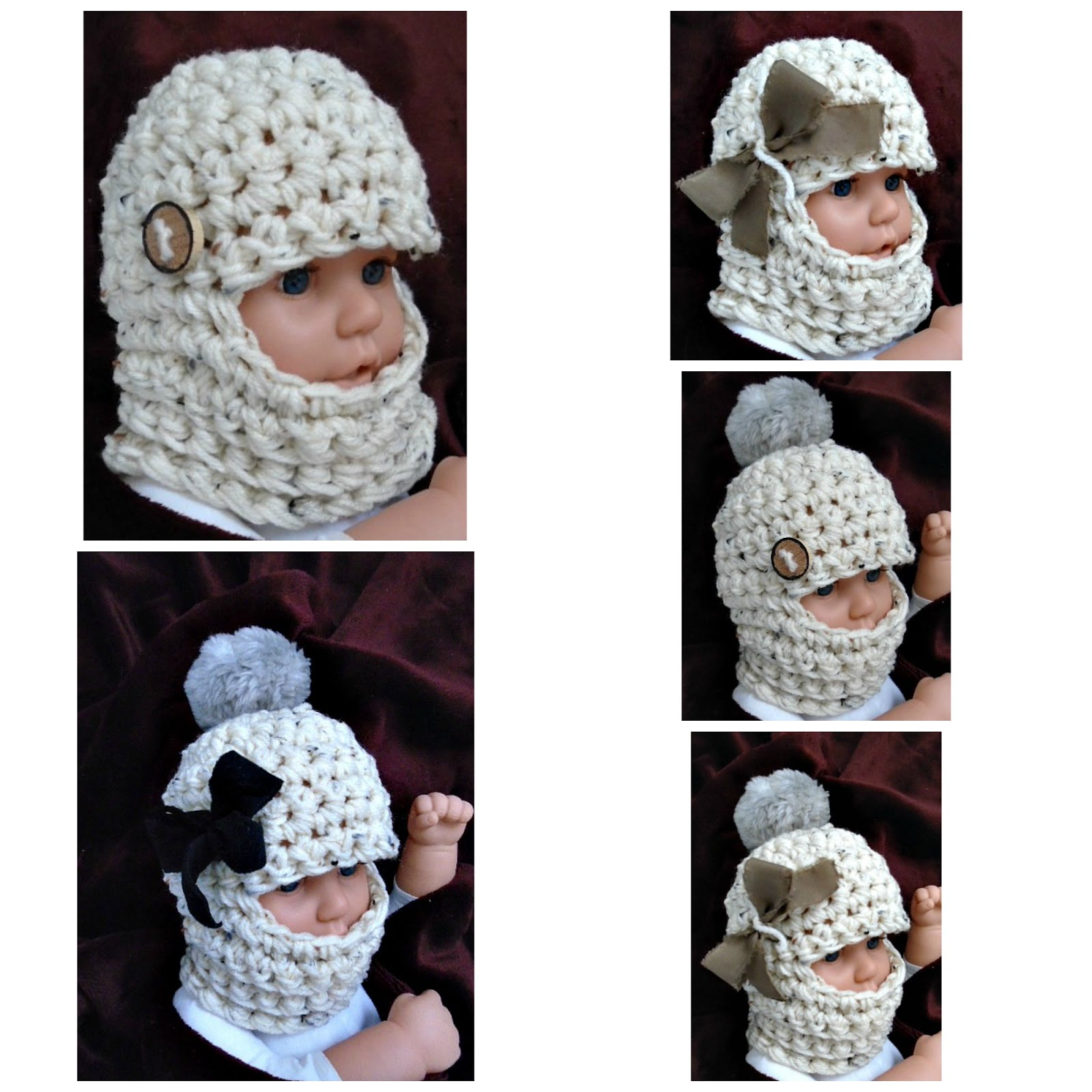 HECTANOOGA PATTERNS: free crochet pattern - BABY BALACLAVA SKI MASK HAT
