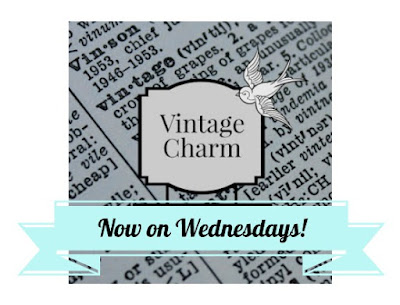 Vintage Charm weekly party button