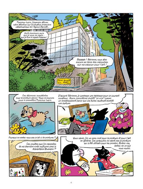 """Une aventure de Arsène Lupin """"cash-cash à Panam"""" aux éditions """"Des ronds dans l'O"""" page 6"""