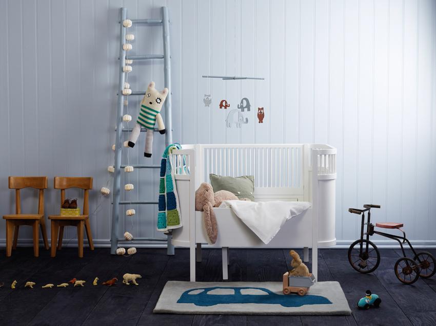 pintura blanca y azul habitaciones infantiles