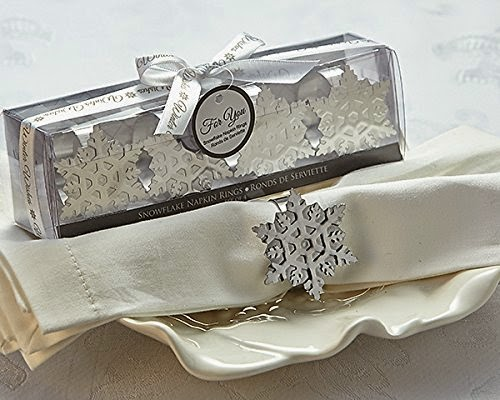 Planning a winter wedding? You'll love these snowflake wedding favors ideas from www.abrideonabudget.com.