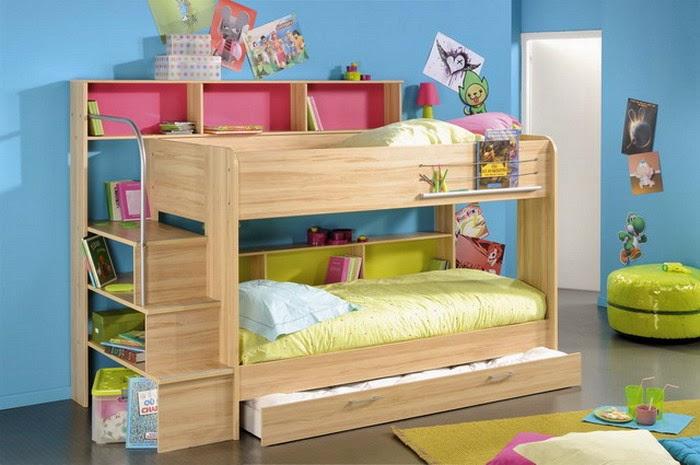 dormitorio cama litera niños