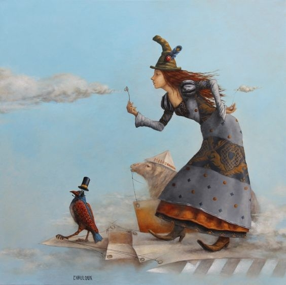 09-The-Maker-Of-Clouds-Catherine-Chauloux-Paintings-of-Surreal-Worlds-and-Characters-www-designstack-co