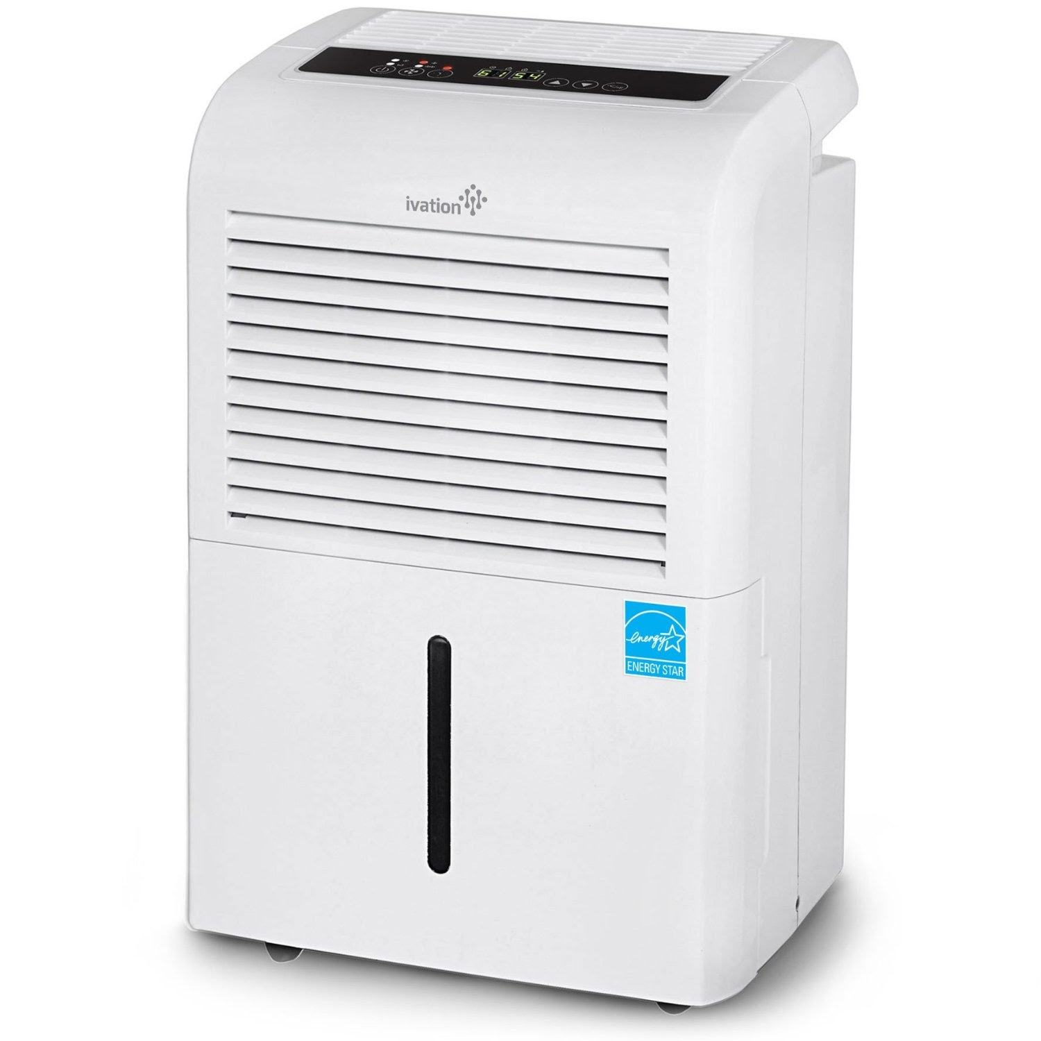 Ivation IVADH70PW 70 Pint Energy Star Dehumidifier. >>