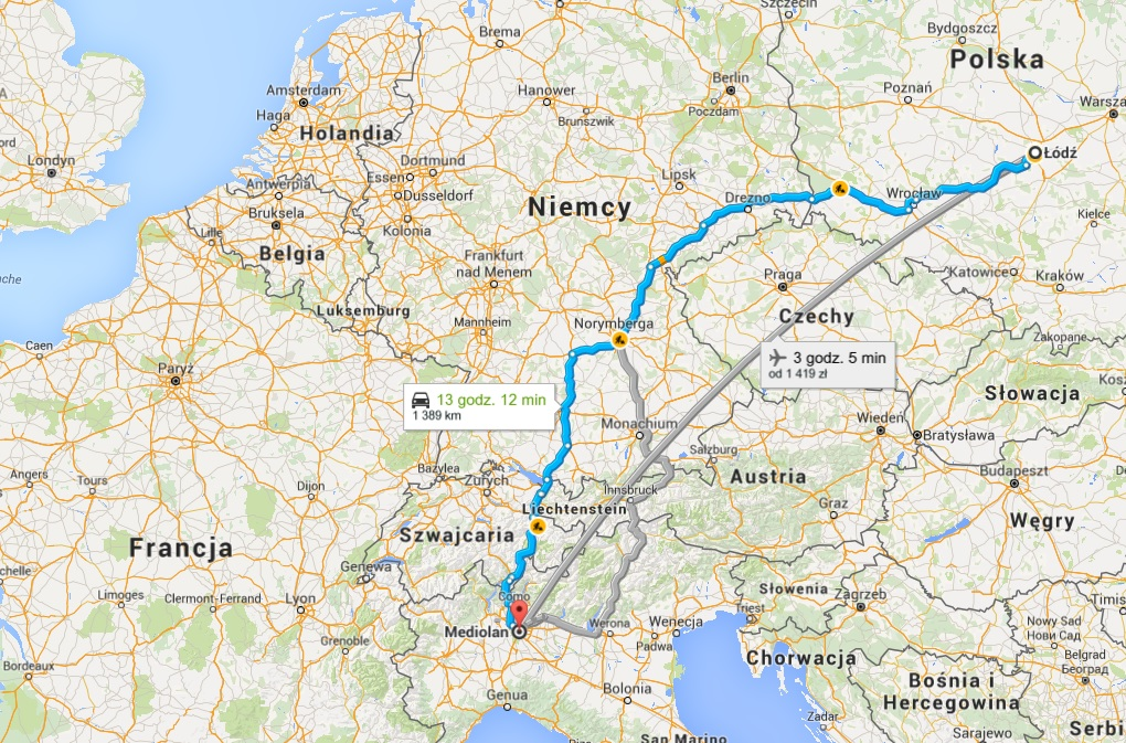 Z Wloch Do Polski Przez Szwajcarie Austrie I Niemcy