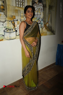 Actress Regina Stills in Green Saree at Vivaha Bhojanambu Restaurant Launch  0173.JPG