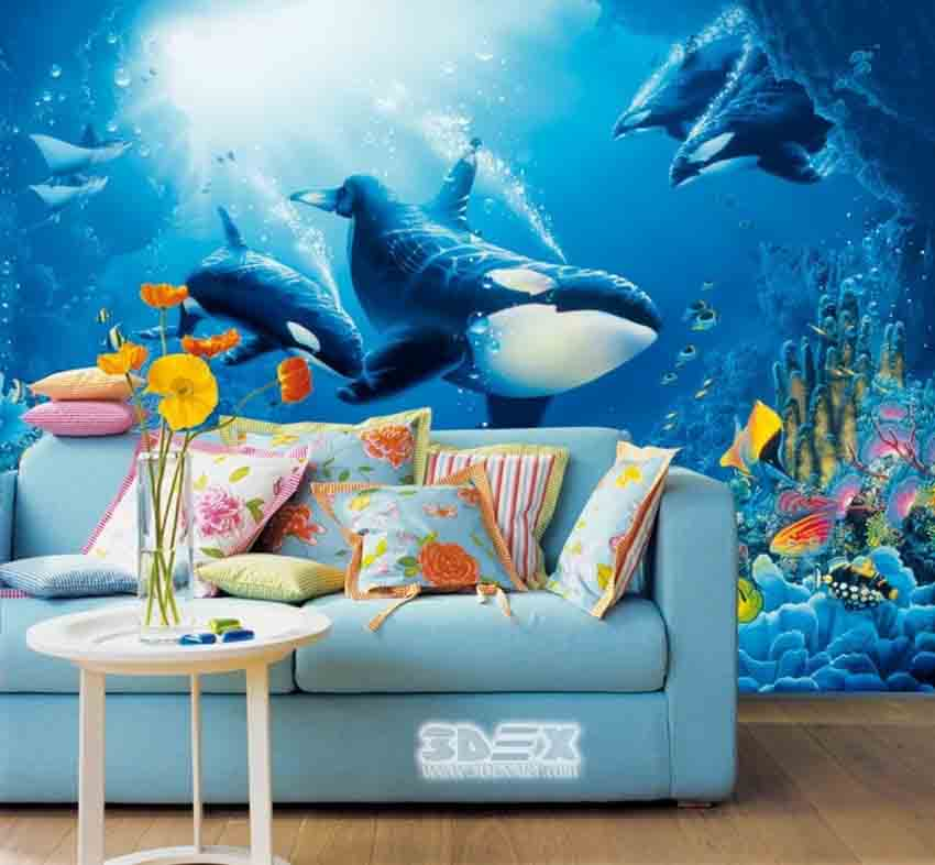 Awesome 3D wallpaper for living room walls 2018 designs