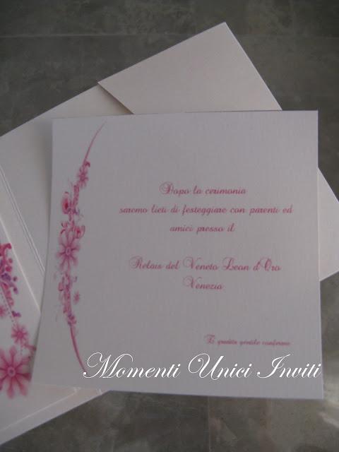 fiori+fucsia3 Partecipazione Pocket mod.fiori fucsiaColore Fucsia Colore Rosa Partecipazioni Pocket