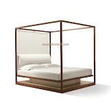 Dipan / Tempat Tidur Jati Minimalis Seri Canopy