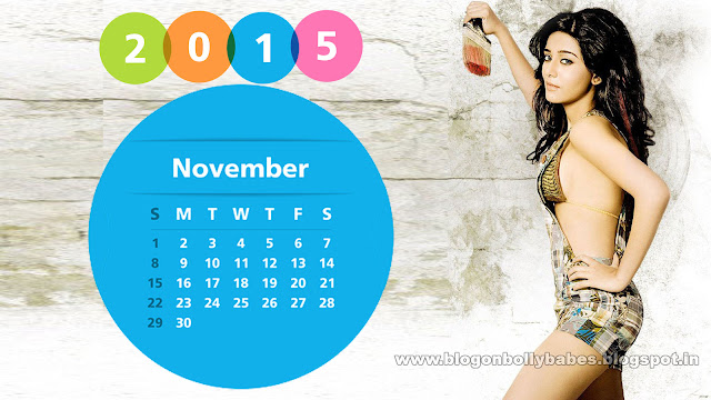 Amrita Rao November Calendar 2015 Wallpaper