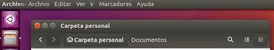 Menú global de Ubuntu
